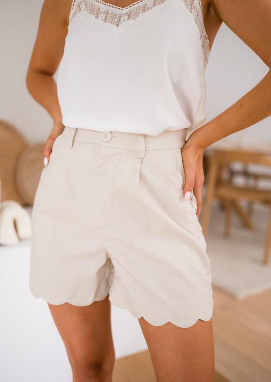 Beige Hugo shorts