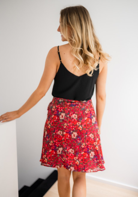 Prisca skirt with flowers - CREATION