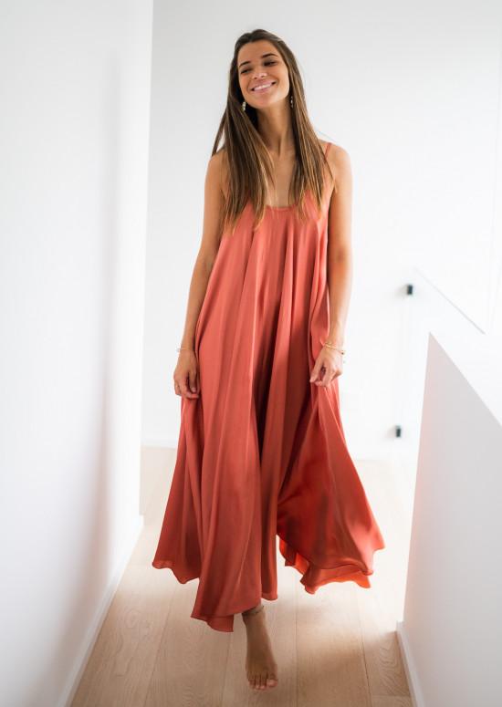 Long Wilma brick dress