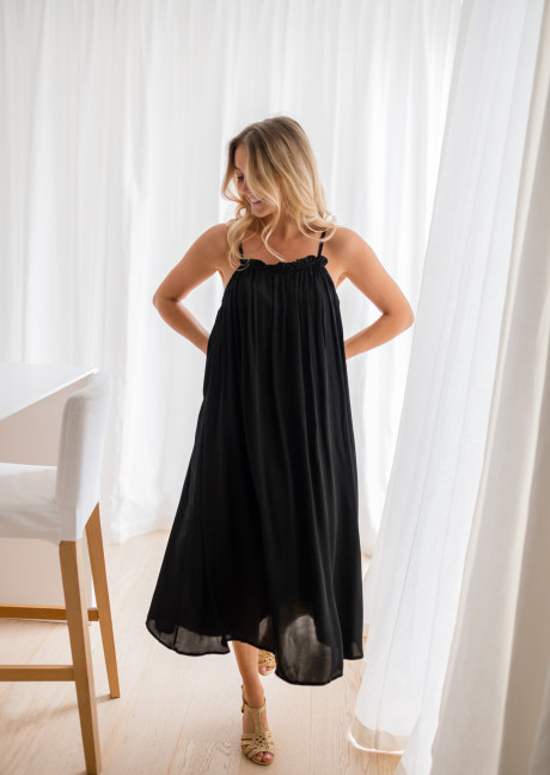 Long Mila black dress