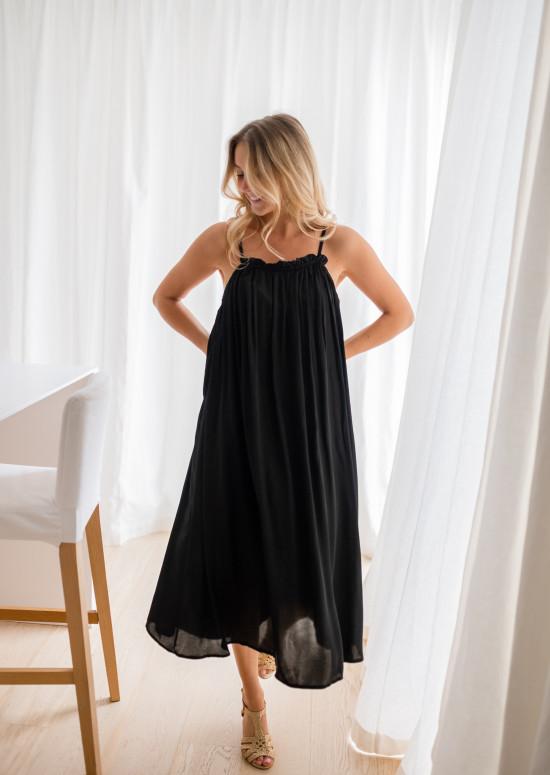 Robe longue Mila noire