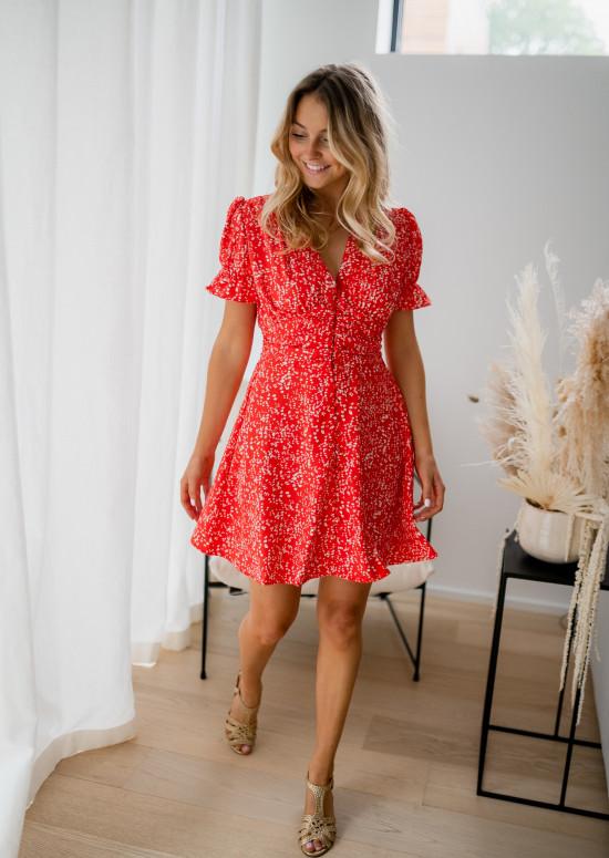 Red Victoria dress