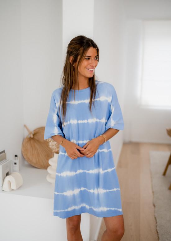 Blue Surf Tie & Dye t-shirt dress