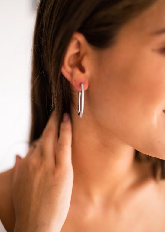 Boucles d'oreilles Kayla argentée
