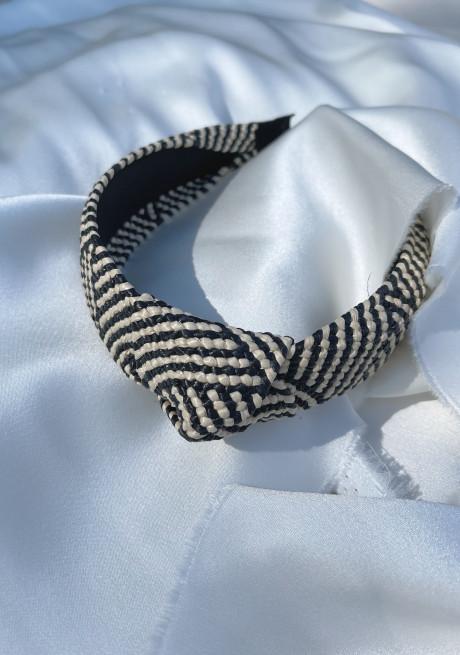 Ecru and black Chiara hairband
