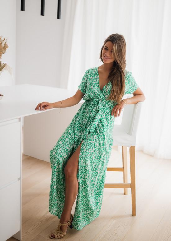 Robe longue Marnie verte