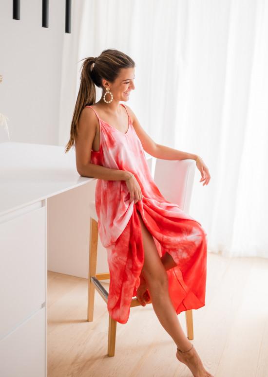 Red tie & dye Noah dress