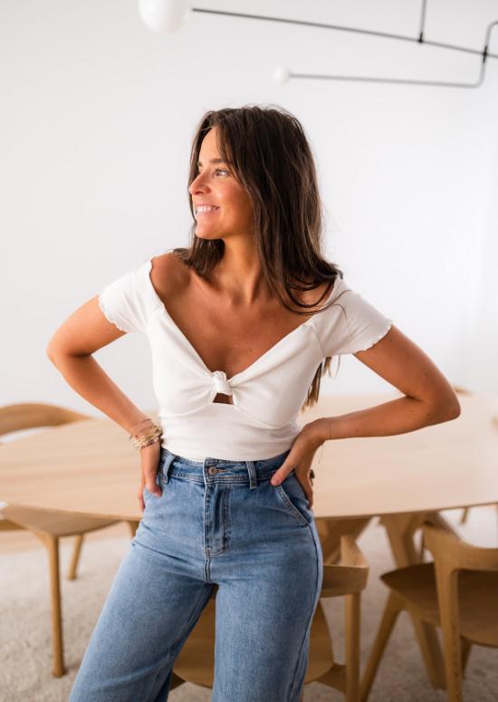 T-shirt Ariana blanc