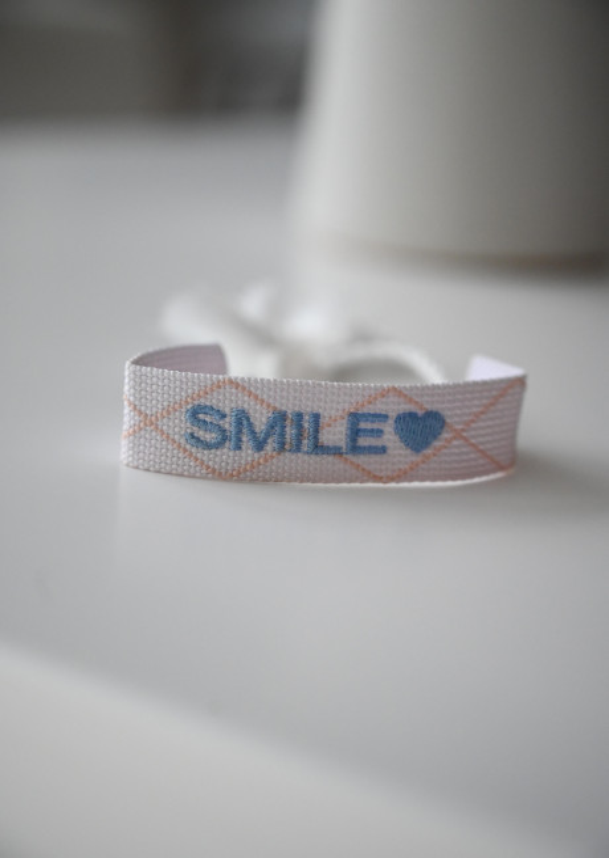 Bracelet Smily en tissus