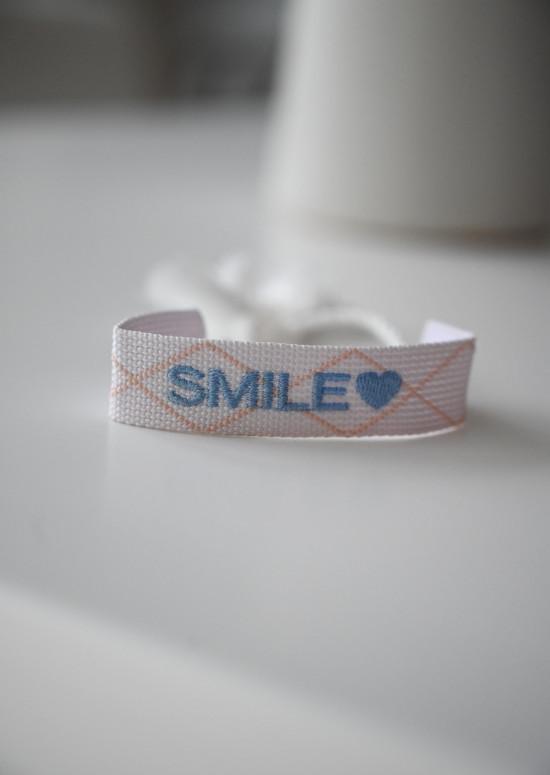 Fabric Smily bracelet