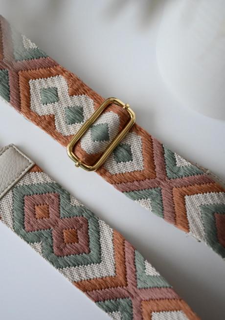 Patterned Elodia bag strap