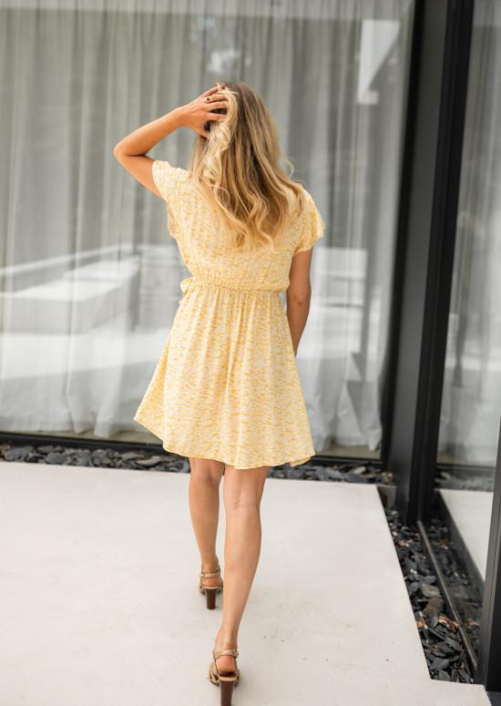 Yellow Ilda patterned dress