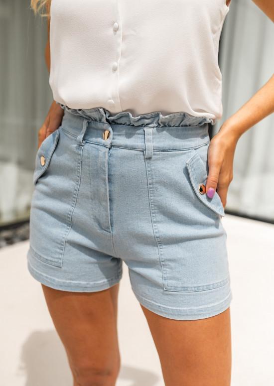 Short Evora en jeans bleu