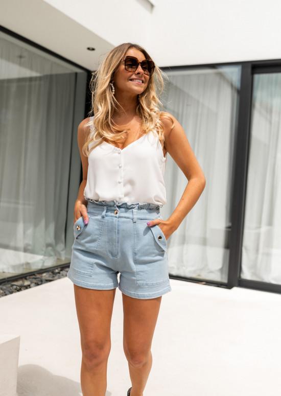 Blue denim Evora shorts