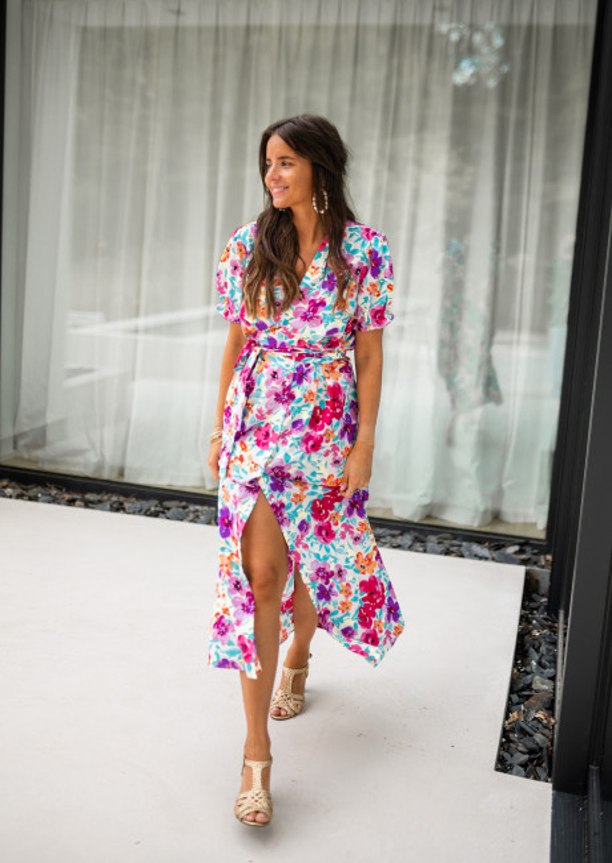 Edma dress with flowers