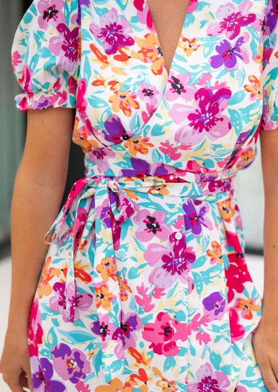 Robe Edma à fleurs
