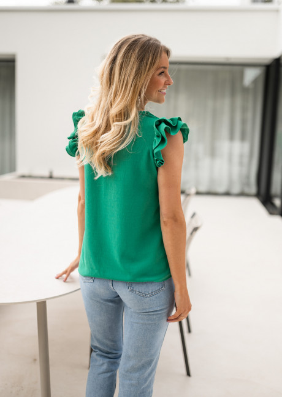 Green Honorine blouse