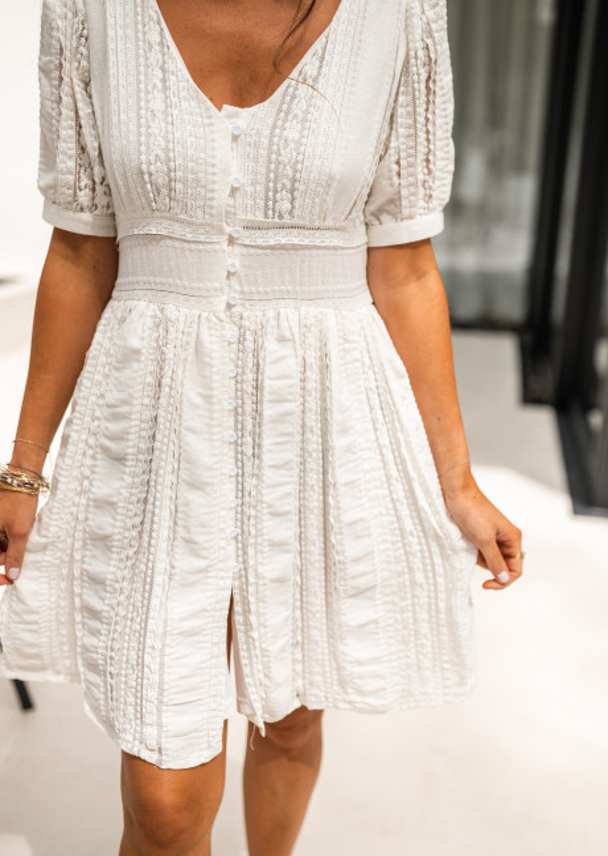 White Alix lace dress