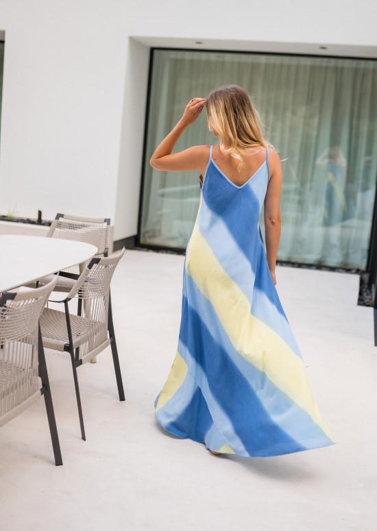 Blue and yellow Jersay dress