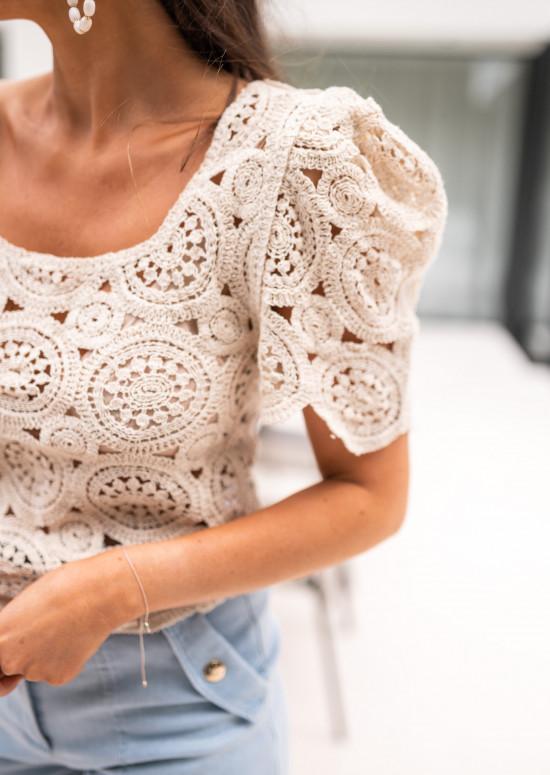 Beige Roxane blouse