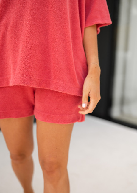 Raspberry Catherine terry cloth matching set