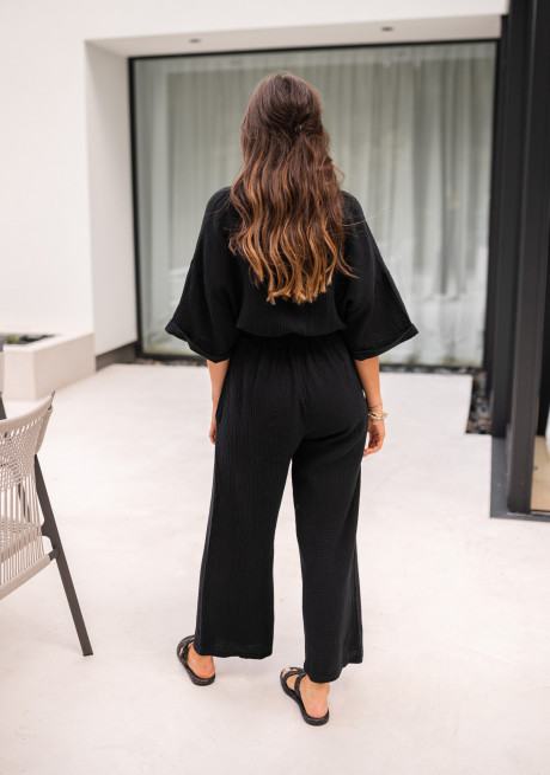 Black Anaelle midi jumpsuit
