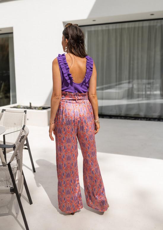 Pantalon Figli à motifs