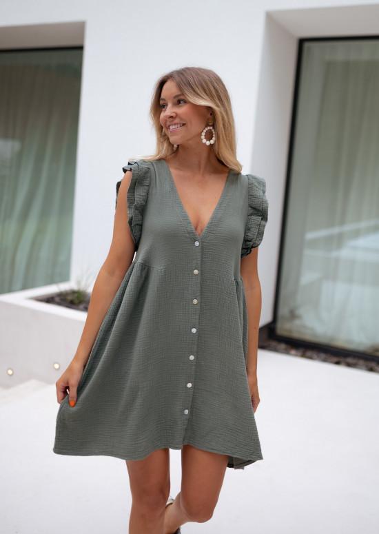 Khaki Cisse dress