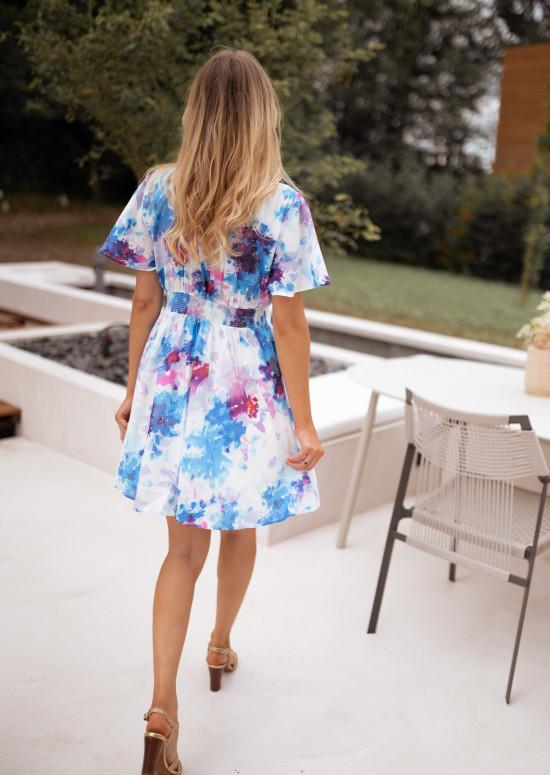 Patterned Nora blue dress