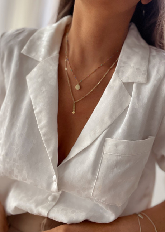 Golden Pilar necklace
