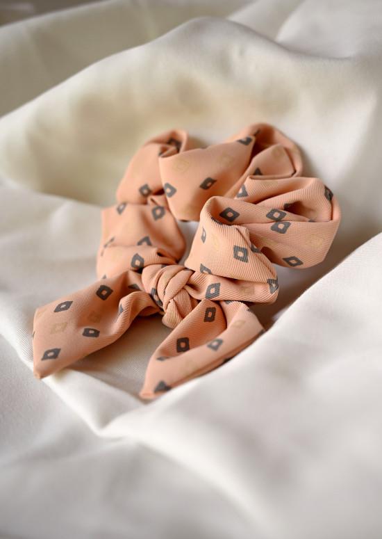 Patterned Nelle scrunchy
