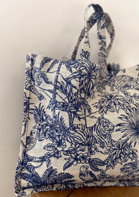 Patterned blue Laya bag