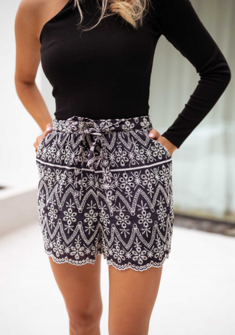 Embroidered blue Liam shorts