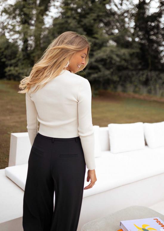 Beige Cruz crop sweater