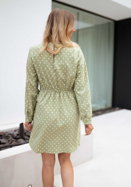 Green Flavie with Polka dots