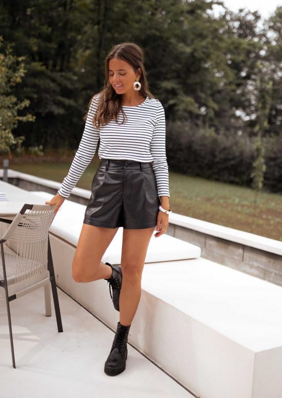 Faux leather Abella shorts