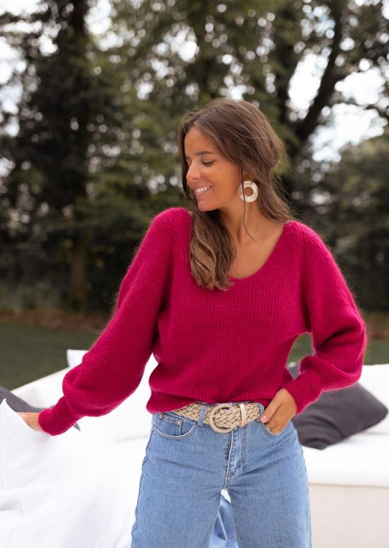 Raspberry Simon sweater