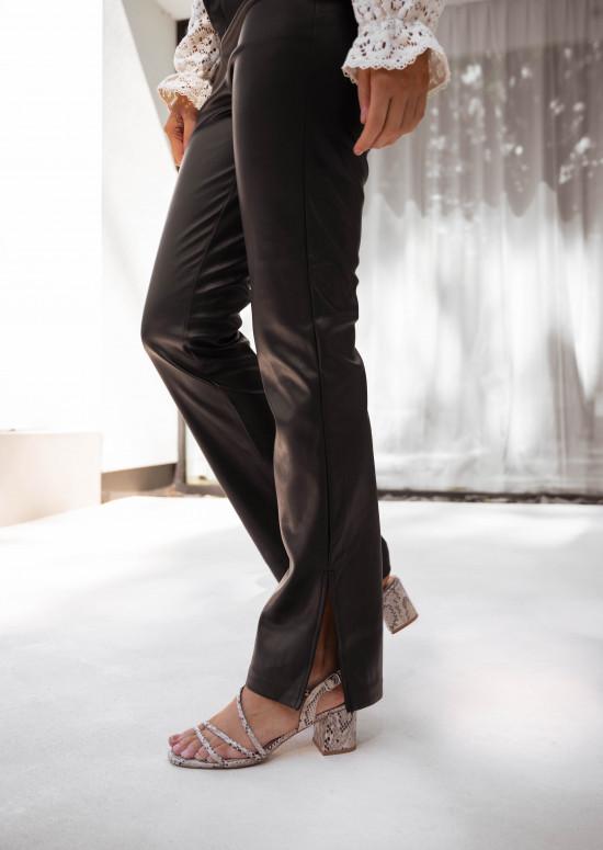 Pantalon simili cuir Rafi noir