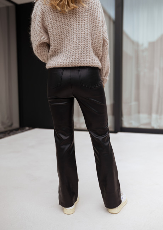Black Rafi fake leather pants