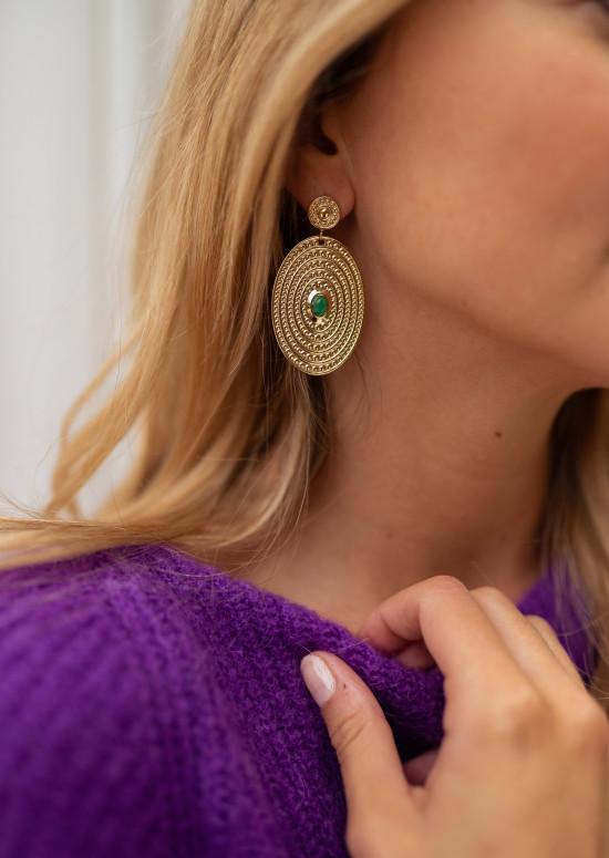 Green Aria earings