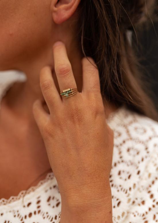 Golden Milan ring