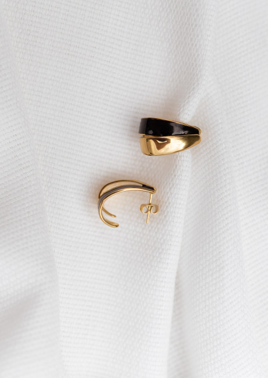 Black Filou Earings