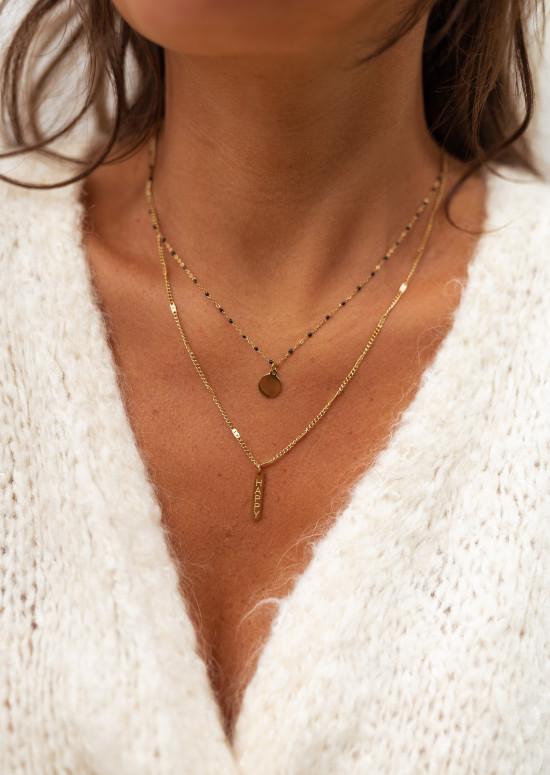 Golden and black Pilar necklace