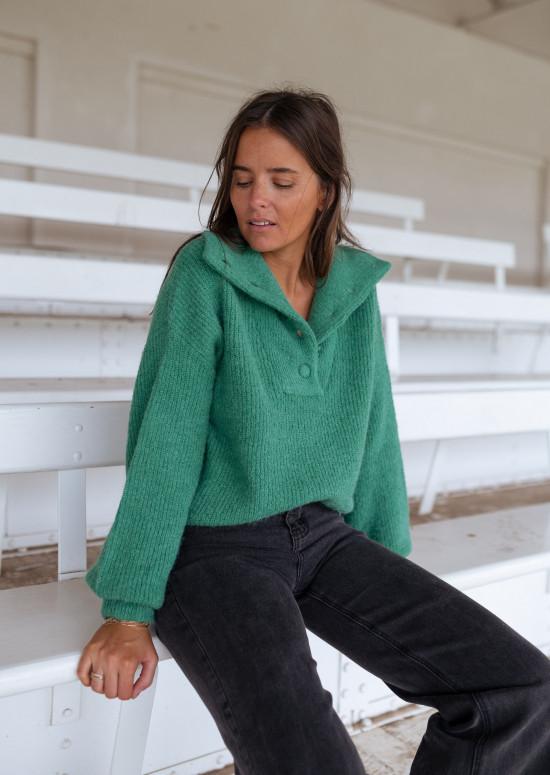 Green Bristol sweater