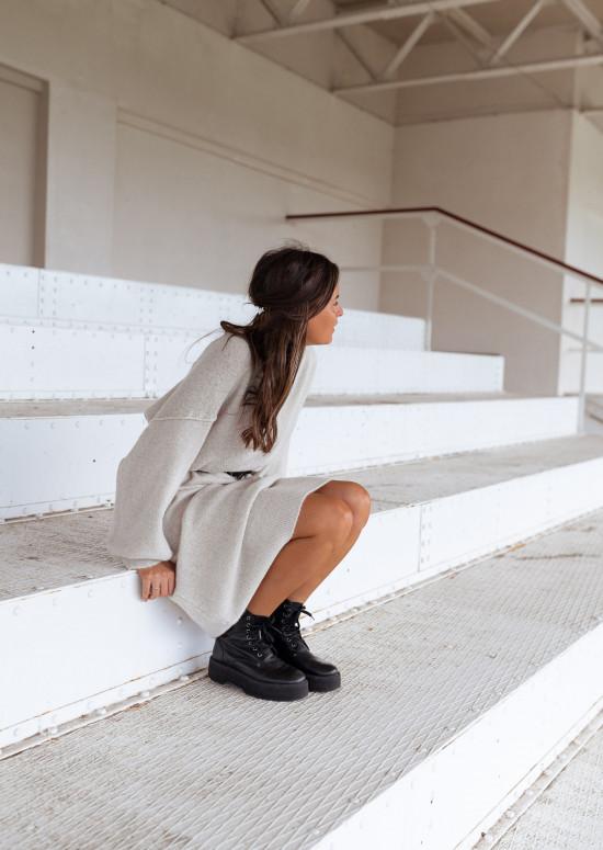 Beige Molly mesh long dress