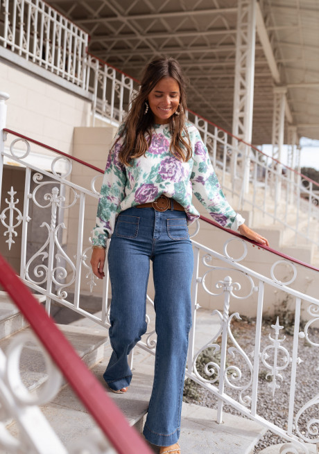 Floral Holly sweater