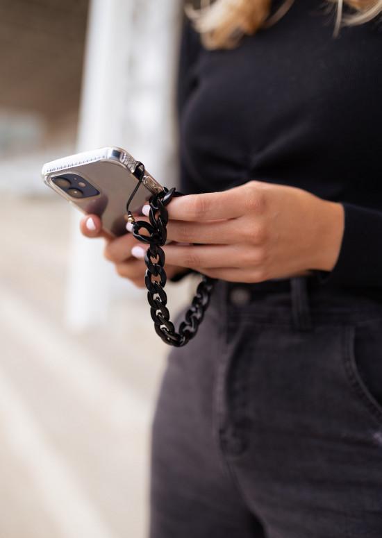 Black Virgil phone lanyard