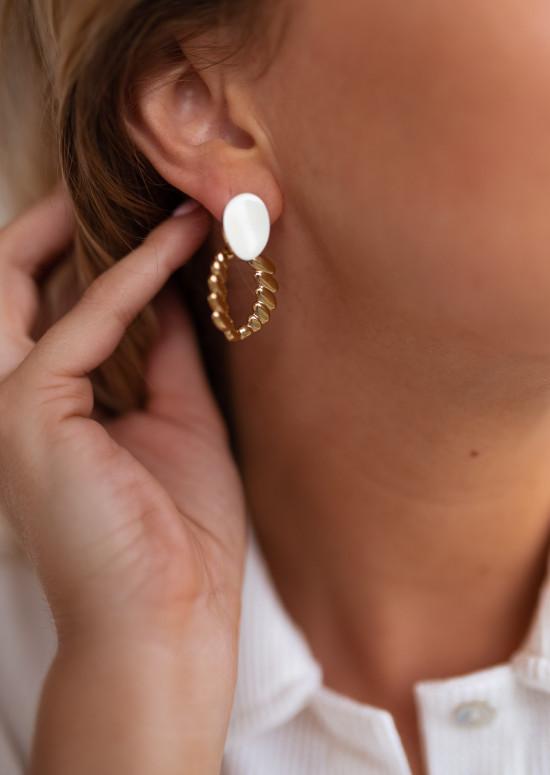 Boucles d'oreilles Baki dorées