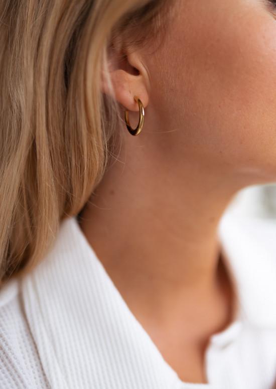 Boucles d'oreilles Amos dorées
