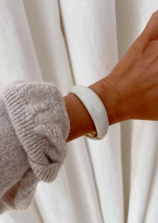 Bracelet Danilo blanc et doré